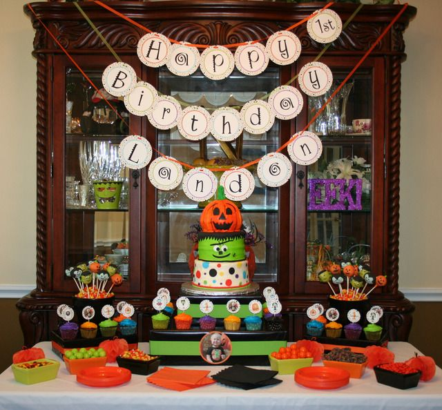 Looking for good ideas for my daughters 1st bday party, Halloween themed.