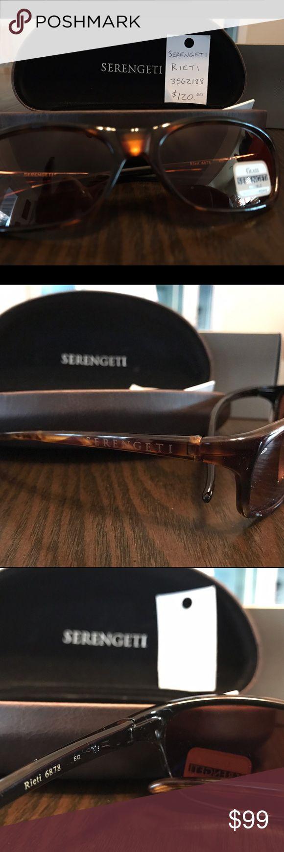 New Serengeti sunglasses unisex brown New Serengeti sunglasses unisex brown comes with hard case slight scratches on case original price 120 serengeti Accessories Glasses
