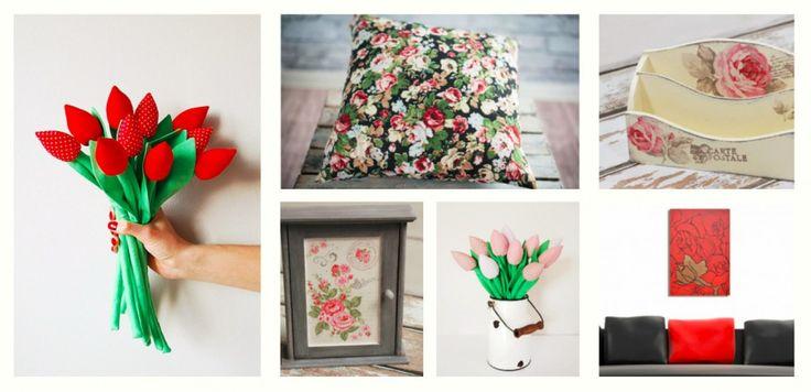 Dodatki do wnętrz z motywem kwiatowym :)