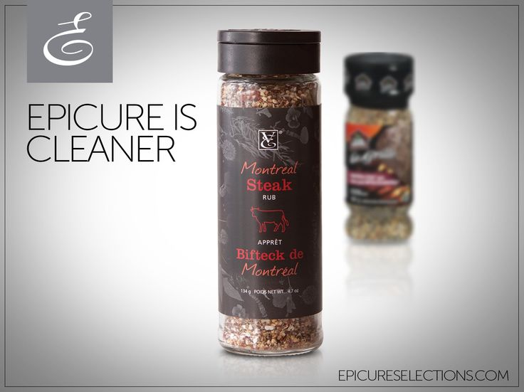 Season your steak, but save the salt! #Epicure's Montreal Steak Rub has 325 mg LESS sodium than the other guys, plus simple ingredients that you can pronounce. #glutenfree