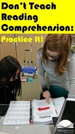 Don't Teach Reading Comprehension: Practice It!