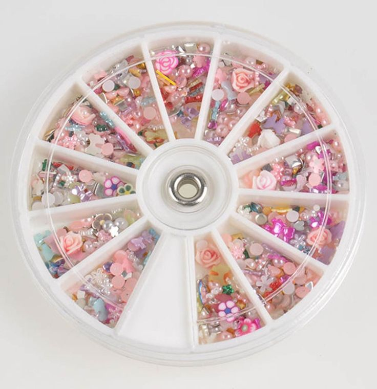 1200 Pcs Agile Popular Nail Art Wheel Slice Glitter Fashion Tips Decoration Colorful Multi-Color Mix Shape *** Want to know more, click on the image.