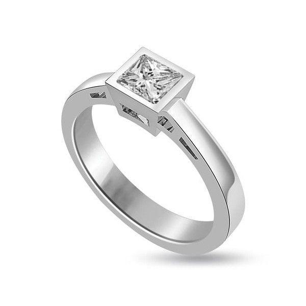 ANELLO DI FIDANZAMENTO SOLITARIO CON DIAMANTE 18CT ORO BIANCO | Solitario con diamante taglio princess montato a battita. L`anello è disponibile in 18ct oro bianco, 18ct oro giallo e in platino. Il peso dei carati del diamante può variare da 0.20ct a 0.60ct ed il colore da F ad I e la purezza da VS1 ad SI1. L`anello è accompagnato dal certificato del diamante. Perfetto per fidanzamento, matrimonio o anniversario e come regalo nel giorno di San Valentino.