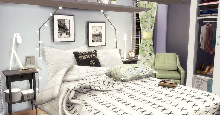 Pastel Bedroom | Sims4Luxury