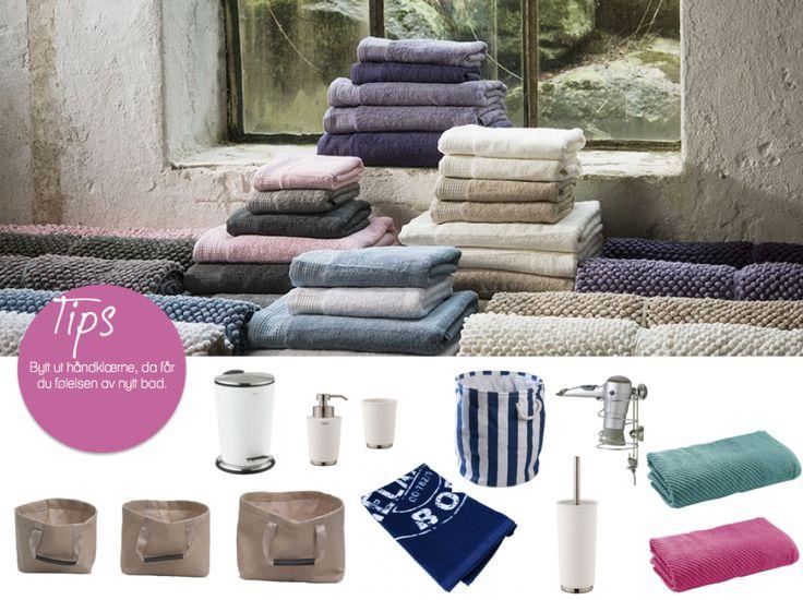 Forny badet med farger og rimelige detaljer.   Det trenger ikke være dyrt å fornye badet, alle produktene over finner du hos Skeidar.
