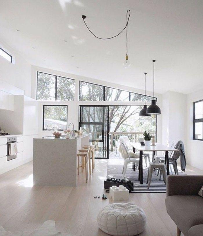 17 meilleures id es propos de plafond blanc sur pinterest int rieurs de maison th me plage - Amenagement salon rectangulaire ...