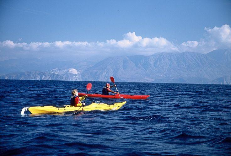 Crete  Sea kayaking in Spinalonga, Greece