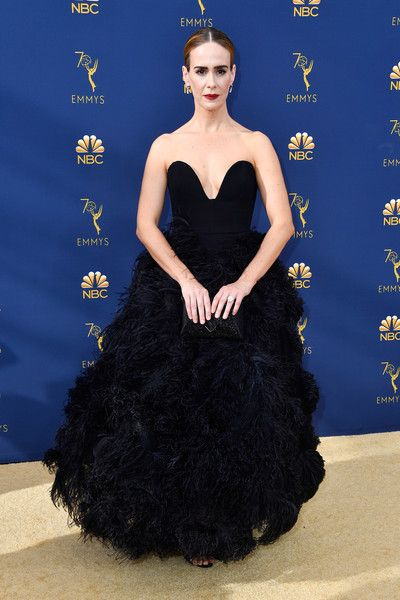 f263ea144ae Sarah Paulson - Every Stunning Dress On The 2018 Emmy Awards Red Carpet -  Photos