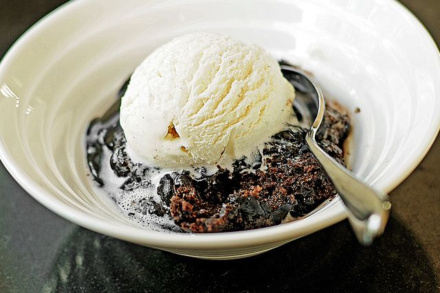 Ooohhhh....The Pioneer Woman- Chocolate Cobbler This is my favorite item they served in the CAF! Want to make this ASAP!