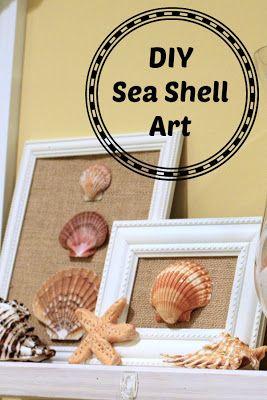 Southern Scraps : DIY framed shell art #beach #souvenirs
