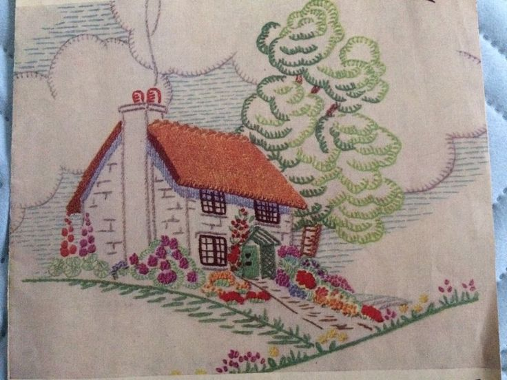 Vintage embroidery transfer