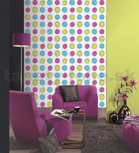 Tapety na stenu Lofty - kruhy farebné   tapety-folie.sk