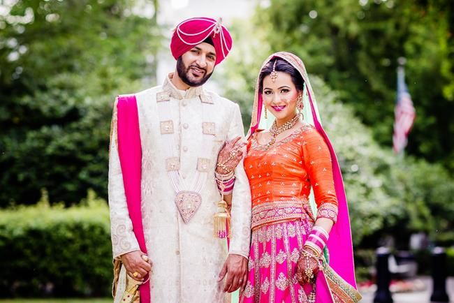 Indian bride and groom by James Thomas Long Photography