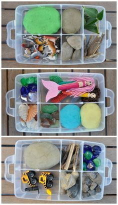 Play Dough Kits - many of the materials you will find around the house!