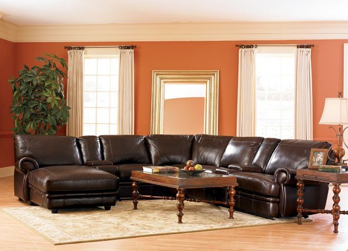 Living Room Furniture, Bentley Sectional, Living Room Furniture {Havertys  Furniture} $1,500- - 19 Best Dark Brown Leather Sectionals Images On Pinterest