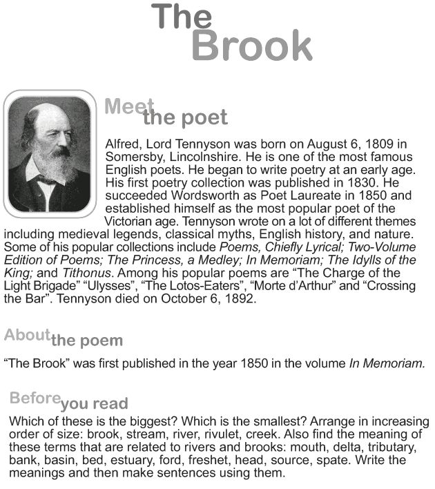 Grade 9 Reading Lesson 8 Poetry The Brook1