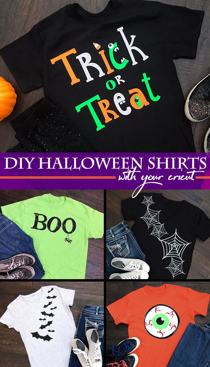 make your own halloween shirts with your cricut