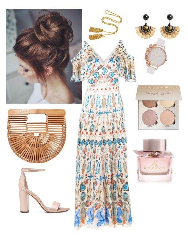 """Summer vibes"" by nedelamirela on Polyvore featuring Cult Gaia, MANGO, Temperley London, Olivia Burton, Burberry, Sam Edelman and Kenneth Jay Lane"