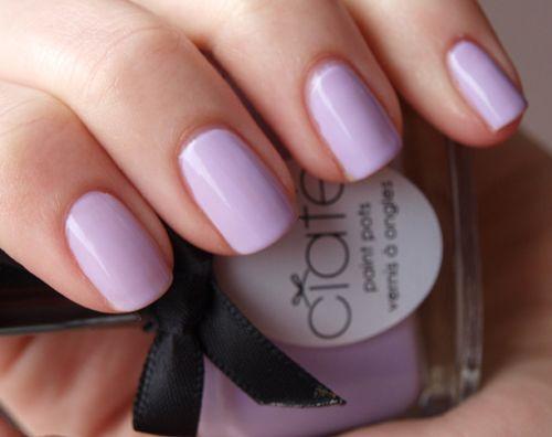 Keep your sorbet subtle with lavender nails