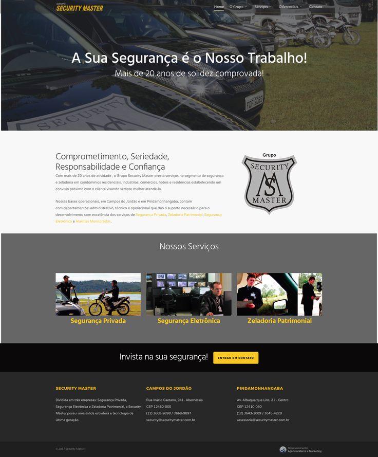 Site criado para a empresa Security Master, reconhecida em Campos do Jordão e em todo o Vale do Paraíba pelos seus serviços em zeladoria e monitoria.