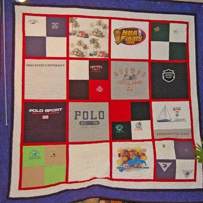 Bereavement quilt for 40-year old daughter from dad s t-shirts. Bereavement Quilts Pinterest ...