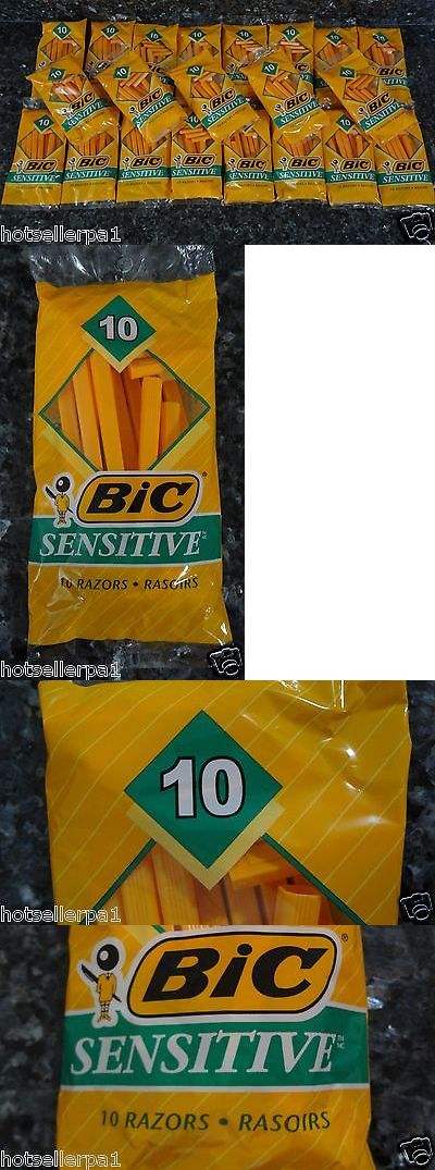 Mens Razors: 210 Bic Sensitive Disposable Single Blade Shavers Razors (21 Packages Of 10) New BUY IT NOW ONLY: $38.0