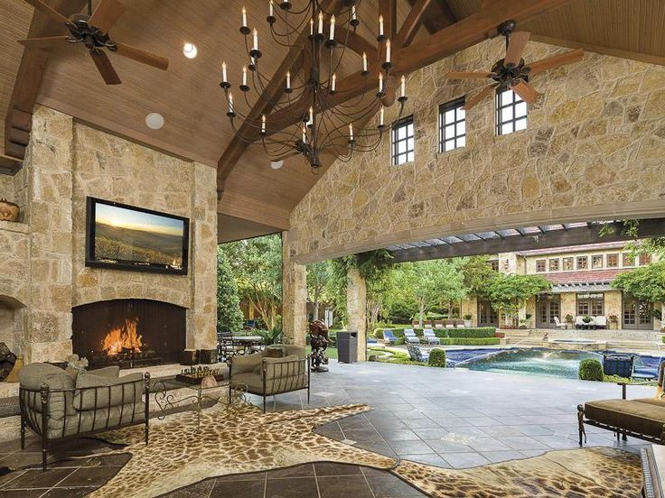 Large covered patio in dallas texas dream house for Large patio design ideas