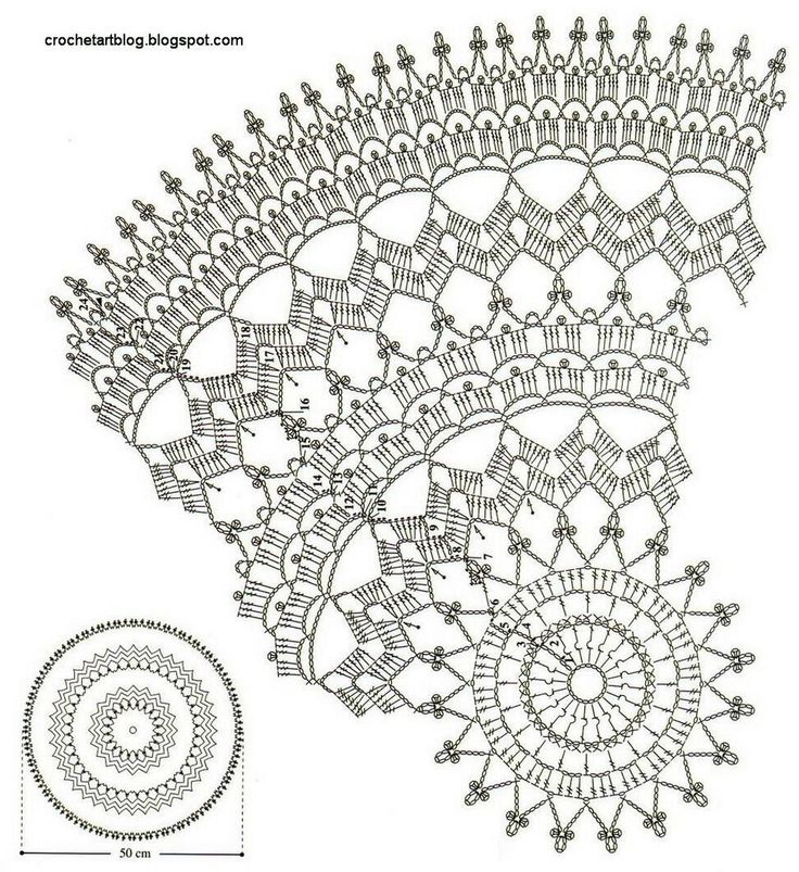 406 best Crochet - Doilies - Round images on Pinterest | Crochet ...