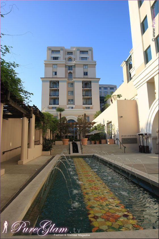 The Westin Pasadena Hotel – beautiful backyard with fountains - Los Angeles, LA, California, USA