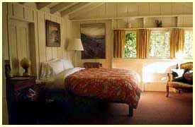 Step back to an earlier time.  Stay in the redwood forest, sit by the fire, read a book.  Love the freshly pressed linen sheets...