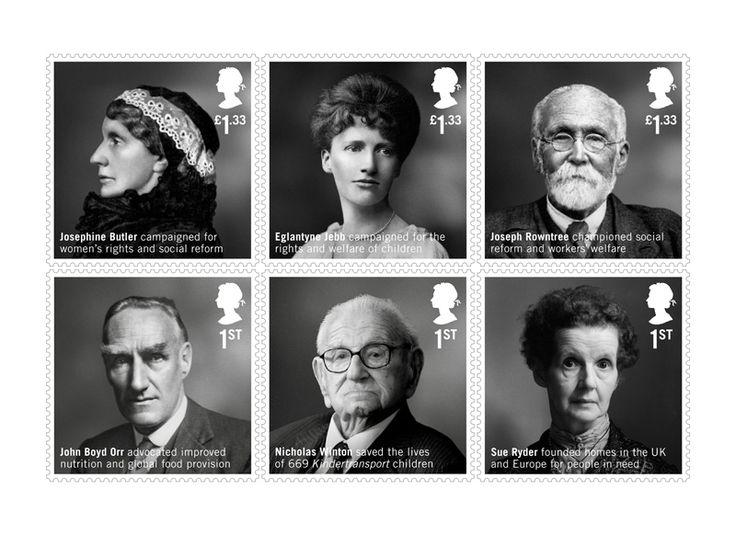 COLLECTORZPEDIA British Humanitarians Stamp Set