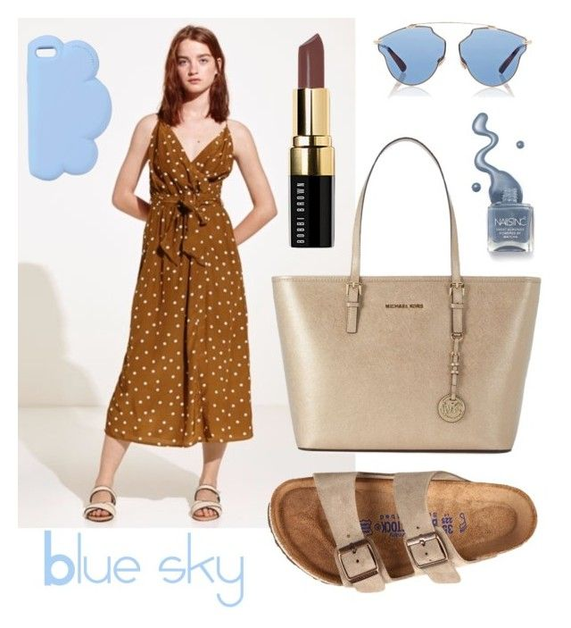 """""""Blue mood is not bad"""" by mariapollypocket on Polyvore featuring moda, Birkenstock, Bobbi Brown Cosmetics, MICHAEL Michael Kors, STELLA McCARTNEY, Christian Dior, Blue, Sky, fashiontrend y fashionset"""