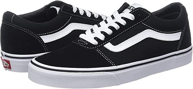 Vans Damen Ward Suede/Canvas Sneaker, Schwarz Black/White Iju, 42 EU ...