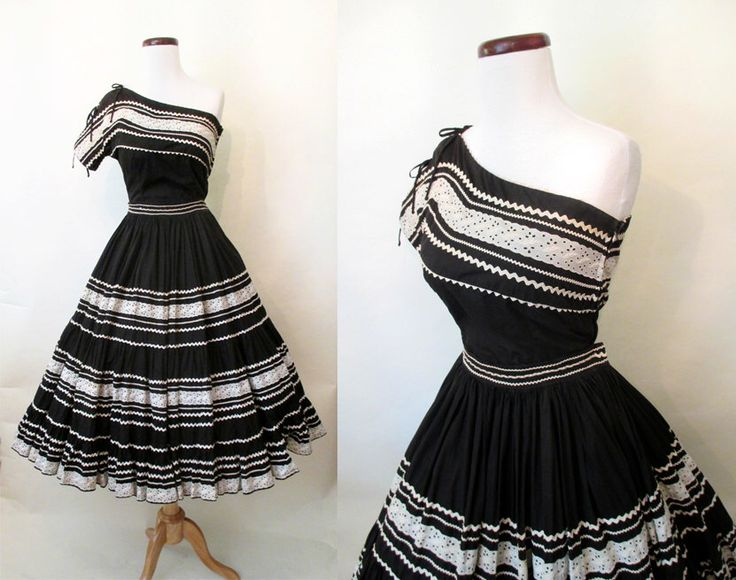 Amazing 1950's Two Piece Off the Shoulder Patio Dress Squaw Dress with Full Circle Skirt Rockabilly VLV Pinup Western Mexi Skirt Size-Medium by wearitagain on Etsy https://www.etsy.com/listing/233209108/amazing-1950s-two-piece-off-the-shoulder