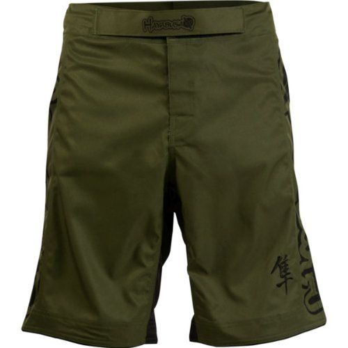 Hayabusa Official MMA Kanpeki Performance Shorts - Green / Size 32 by Hayabusa Fightwear. $52.99. Innovative tie system with indestructible webbing for a distinct cutomized fit  Features our exclusive Mechanical PolyDirectional stretch fabric  High Tensile Strength Stretch Panel and Split Side Seams for Unrestricted Range of Motion  Contains Hayabusa's exclusive Guardlock inner grip waistband system  Reinforced T3 stitching for ultimate strength and durability  Permanent Fiber...