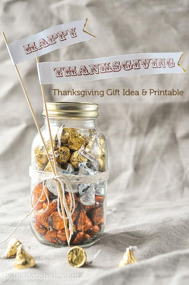 Give Thanks With These 10 DIY Thanksgiving Printables: Thanksgiving Printable Gift Tag