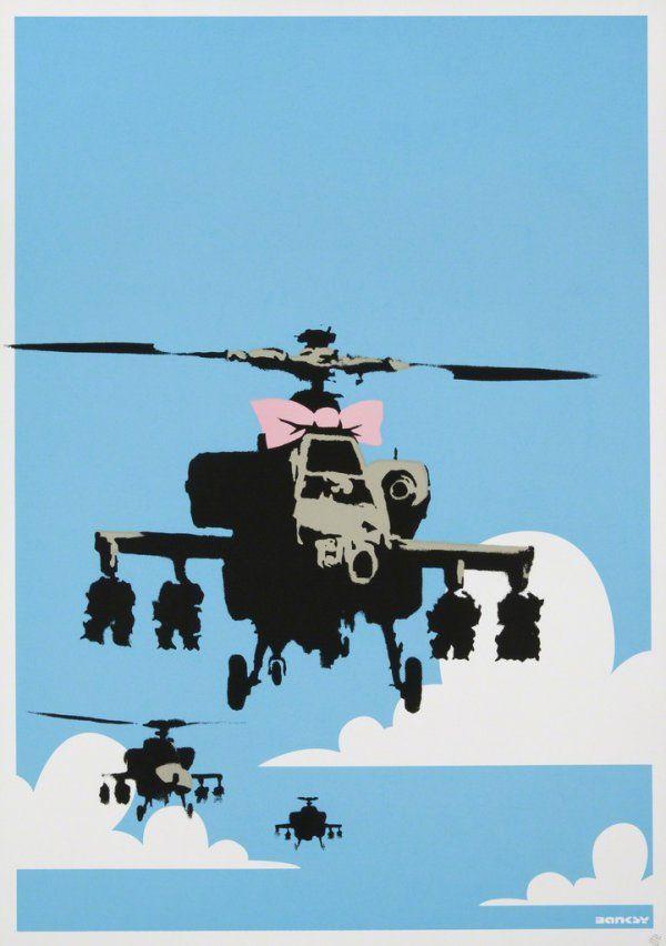 Happy Choppers -  Banksy prints https://www.printed-editions.com/art-print/-banksy-happy-choppers-67928