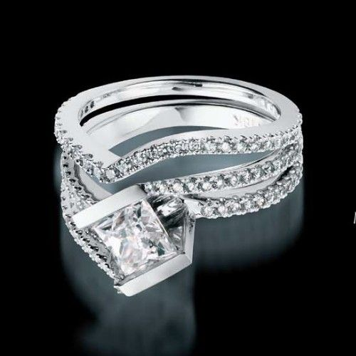 Mystere Pave Engagement Ring