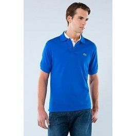 lacoste men polo shirt royal blue