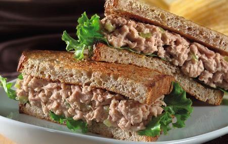 tuna, boiled egg, sweet pickle relish, celery, lemon pepper, mayo - very good