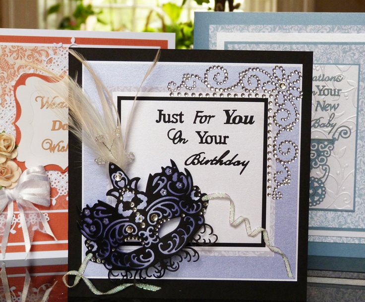 'Mask' - Topper Die. Visit tatteredlace.co.uk for available stockists.