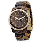 Michael+Kors+Watch,+Women's+Chronograph+Ritz+Acrylic+Tortoiseshell+Bracelet+38mm+MK5038