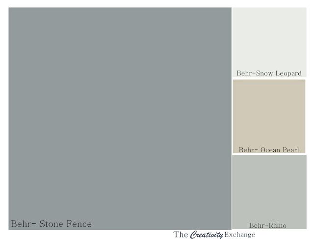 Gorgeous color palette of Behr Paint Colors for master bedroom {The Creativity Exchange}