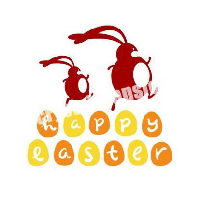 Happy Easter Heat Transfer Vinyl Motif