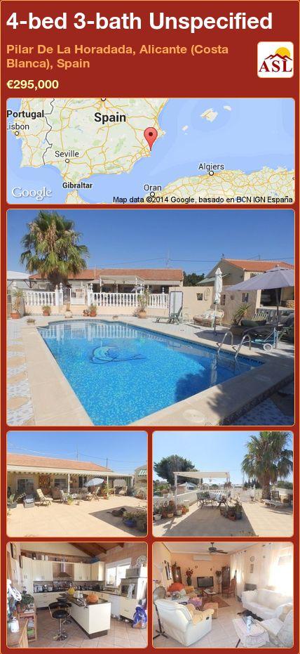 4-bed 3-bath Unspecified in Pilar De La Horadada, Alicante (Costa Blanca), Spain ►€295,000 #PropertyForSaleInSpain