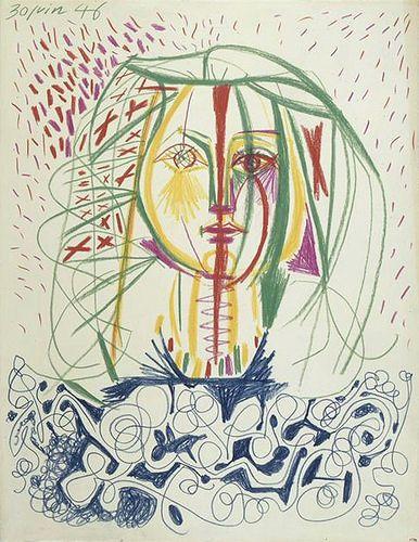 Pablo Picasso - Portrait de Françoise, 1946