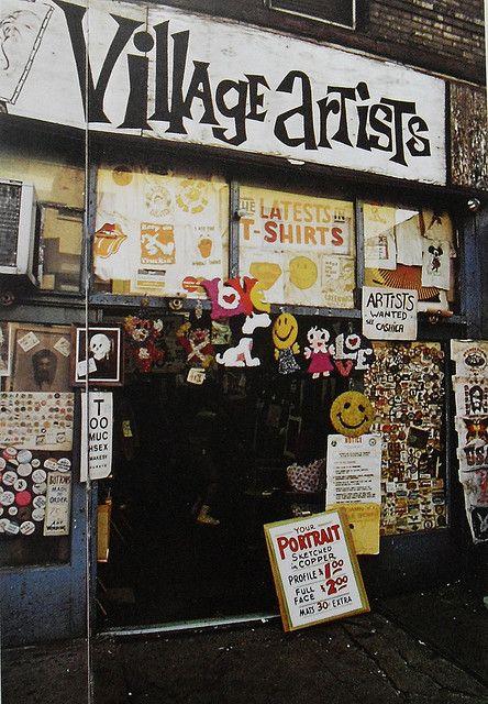 New York City Greenwich Village 1960s Artists Shop Vintage
