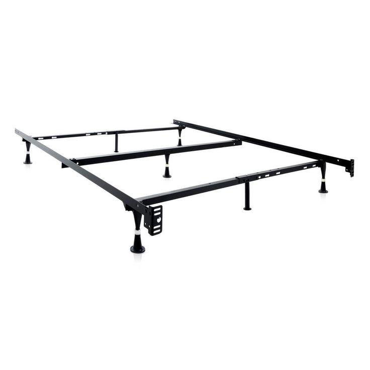 adjustable metal bed frame black full xlfull twintwin