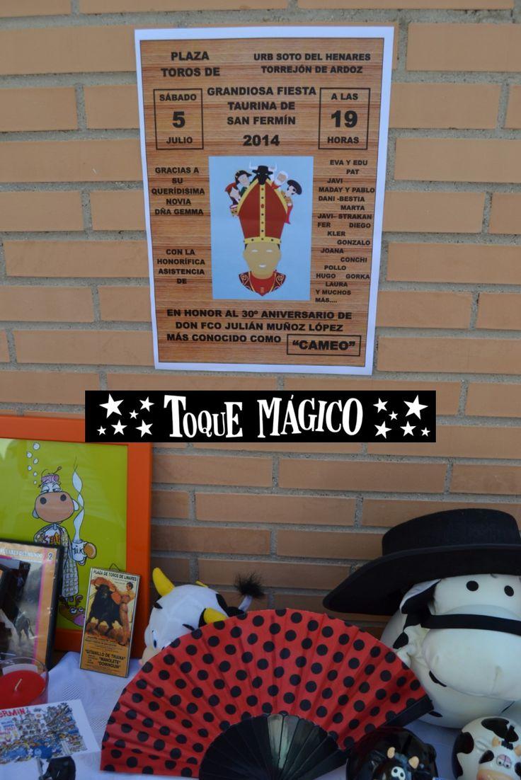 Cartel creado especialmente para el cumplea ero for Pisos en san fermin madrid