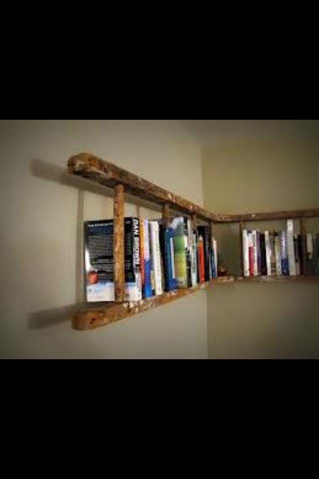 Ladder bookshelf @Jillian Medford Leonard
